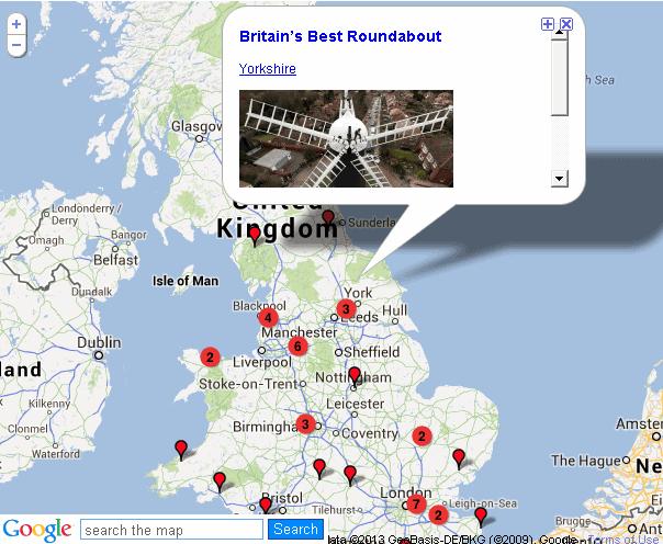 meerdere locaties google maps