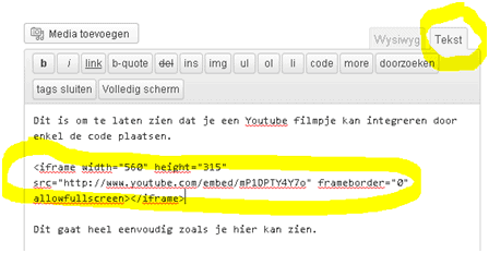embed-code-in-tekst-mode