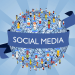 Sociale Media Icoontjes Zonder Vertragingen