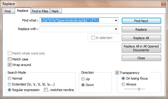 HTML tags verwijderen met regex