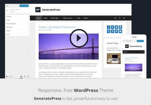 GeneratePress - Beste WordPress themes in 2020