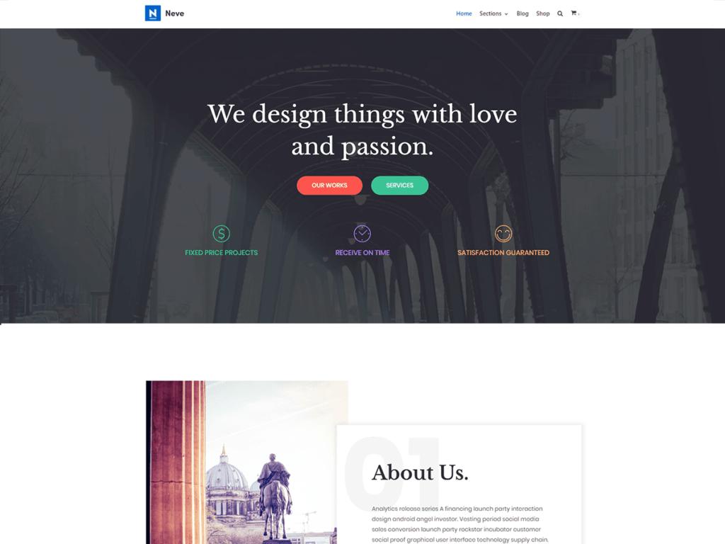 Beste WordPress theme Neve
