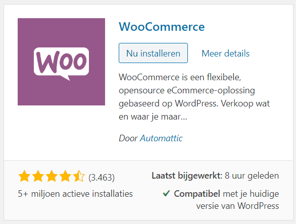 Woocommerce-plugin-installeren