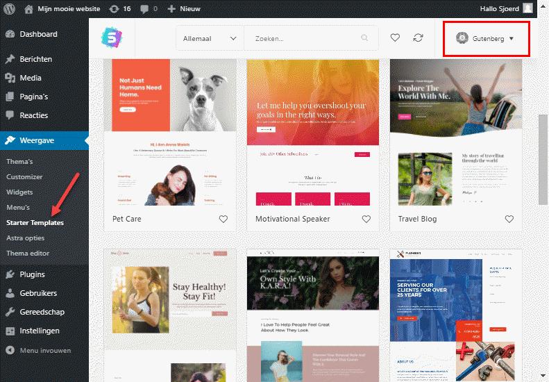 Mooie voorbeeldwebsites wordpress astra thema om direct te gebruiken